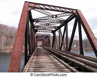 spoorweg, brug