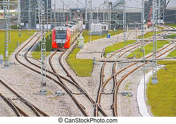 spoorweg, depot.