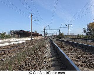 spoorweg, in, russische