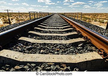 spoorweg, kazachstan, steppe
