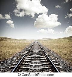 spoorweg, voetspooren