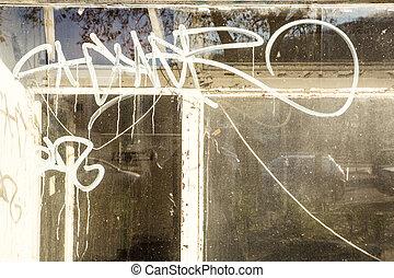 sporco, finestra