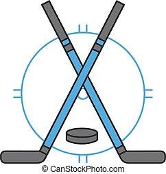 sport, écusson, hockey, vector., équipe
