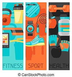 sport, és, egészséges életmód, szalagcímek, noha,...