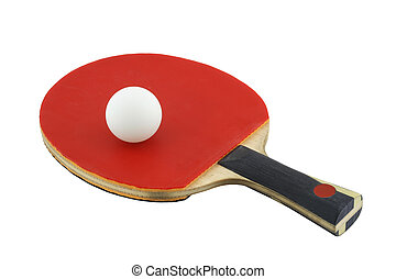 sport 002 ping pong red and ball