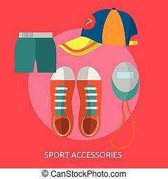Sport Accessories Conceptual illustration Design