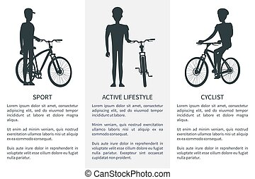 Sport Active Lifestyle Cycling Vector Illustration