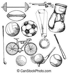 sport, affattelseen, element