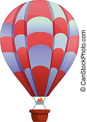 Sport air balloon icon, cartoon style