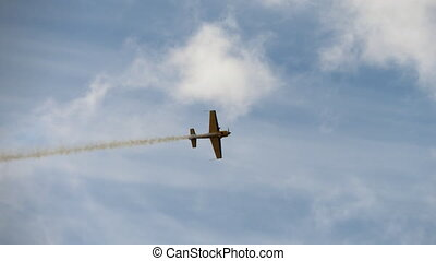 Sport airplane aerobatics performance - The sports plane...