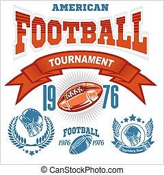 Sport American Football Logo.