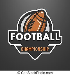sport, amerikanische , fußball, logo, emblem.