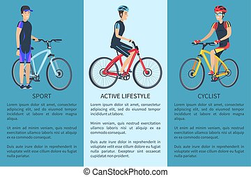 Sport and Active Lifestyle Set Vector Illustration