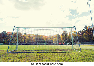 football goal on field