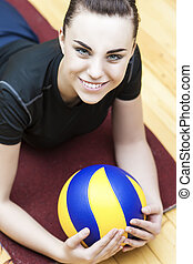 Caucasian Volleyball Player