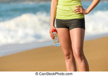 Sport and fitness on summer concept