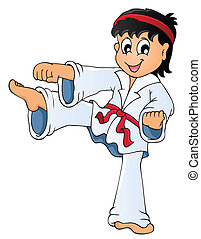 Sport and gym topic image 3 - eps10 vector illustration.
