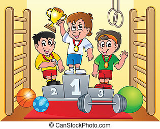 Sport and gym topic image 6 - eps10 vector illustration.