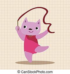 sport animal cartoon elements vector