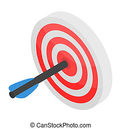Sport arch target icon, isometric style
