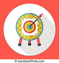 Sport archery flat icon