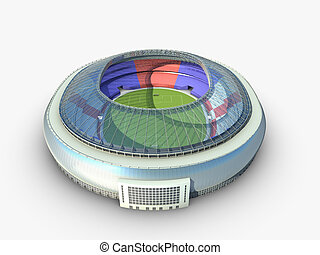 sport arena. stadium 3d illustration