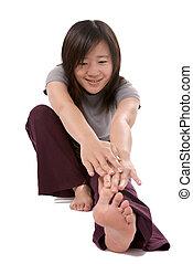 Sport Asian woman