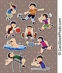 sport, aufkleber
