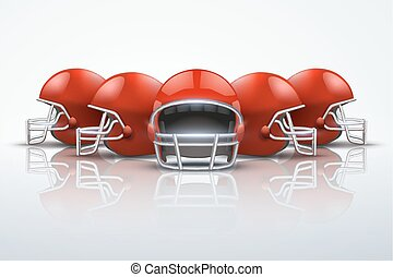 Sport Background with american football helmets