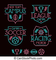 Sport badges and icons
