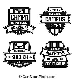 Sport badges. Graphic design for t-shirt