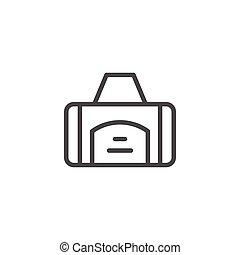 Sport bag line icon