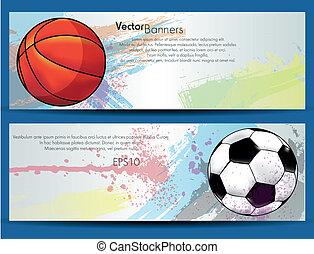 Sport ball banners