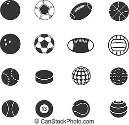 Sport ball silhouettes collection