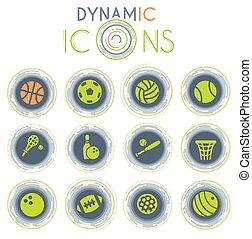 sport balls dynamic icons