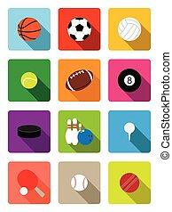 Sport balls flat icons