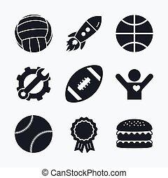 Sport balls. Volleyball, Basketball, Baseball. - Award...
