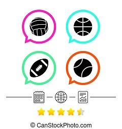 Sport balls. Volleyball, Basketball, Baseball. - Sport balls...