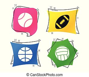 Sport balls. Volleyball, Basketball, Baseball. Vector -...