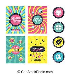 Sport balls. Volleyball, Basketball, Soccer. - Sale website...