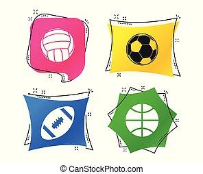 Sport balls. Volleyball, Basketball, Soccer. Vector - Sport...