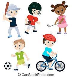sport, barn
