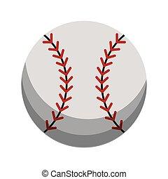 sport, baseball, karikatur, kugel