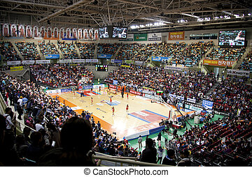 sport, basketball, arena, in, südkorea