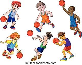 Sport basketball cartoon vector