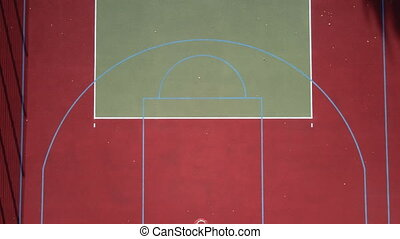 Sport. Basketball court. Aerial view.
