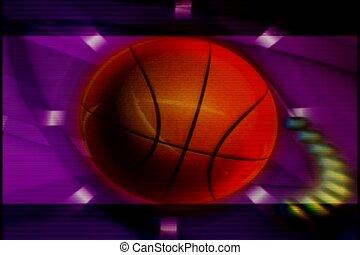 sport, basketball, spin