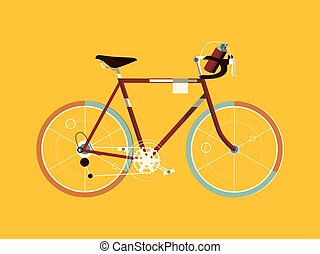 Sport bicycle cartoon vector illustration