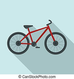 Sport bicycle icon, flat style