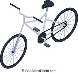 Sport bicycle icon, isometric style